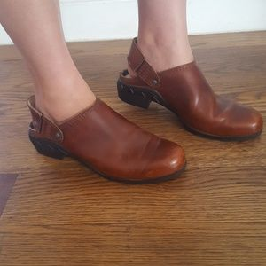 Ariat Leather Slingback Mules Booties 8.5